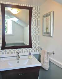 powder room furniture. Decor Modern Powder Room Designed By Grey Florals Wall Theme And Decorating Ideas Home U Furniture E