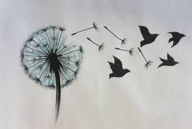 тату цветок одуванчик с птицами значение для девушек что