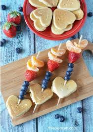valentine s day cupid arrow pancake kabobs