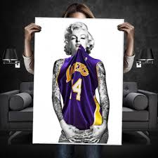 marilyn monroe lakers tattoo s poster on marilyn monroe tattoo wall art with marilyn monroe lakers tattoo s poster wehustle menswear