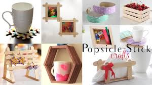top 10 diy popsicle stick craft compilation craft ideas home decor