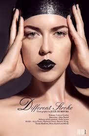 beauty editorial for huf magazine shot by julie de moura makeup by carleen gordon