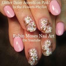Robin Moses Nail Art: Soft Spring Daisy Nail Art Tutorial on Pink ...