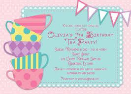 Kids Tea Party Invitation Wording Invitations To A Tea Party Under Fontanacountryinn Com