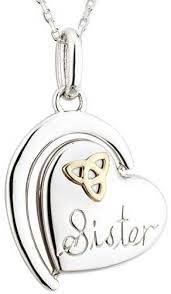 celtic necklace silver sister 45632