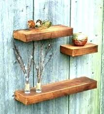 dark wood floating shelves rustic shelf brown cherry wall