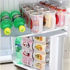 refrigerator storage. beer soda can 4 storage box kitchen fridge drink bottle holder refrigeration organizer coke refrigerator
