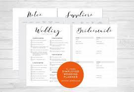 Printable Wedding Planner Printable Wedding Planner Organizer