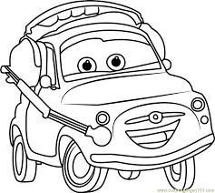 Small Picture Luigi from Cars 3 Coloring Page Free Cars 3 Coloring Pages