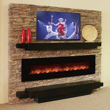 rustic electric fireplaces style