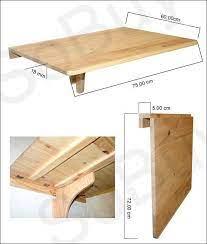 wooden single fold wall table