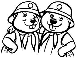 Kleurplaat Scouting Bevers Logo Beaver Pictures For Kids Coloring