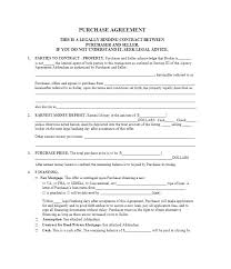 Basic Purchase Agreement Template Feat Simple Real Estate Purchase ...