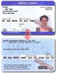 International Australia Western Drivers License