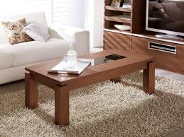 living room coffee table black glass top rectangle