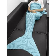 Mermaid Tail Blanket Knitting Pattern Fascinating Wholesale Simple Style Solid Color Crochet Knitting Geometric