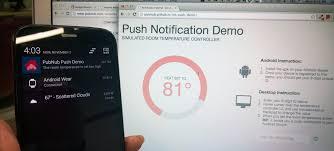 Javascript Sending Push In Via Notifications Android Gcm Pubnub xHYHq6gwS