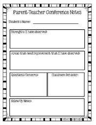 Parent Teacher Conference Form Template Parent Teacher Conference Forms Editable Parent Teacher