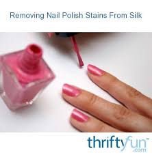 removing nail polish stains from silk