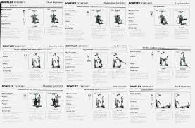 Bowflex Xtl Exercise Wall Chart Bench Press Workout Online Charts Collection