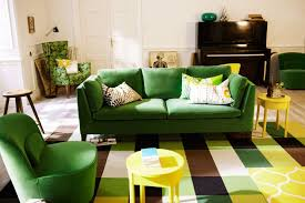 Yellow And Green Living Room Designs Green Sofa Living Room Design Ideas Pictures