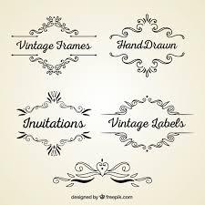 vintage frame design png. Vintage Frames Free Vector Frame Design Png