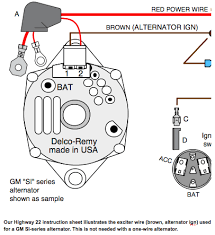 3 wire gm alternator diagram wiring diagram for gm one wire alternator wiring wiring diagram for a one wire alternator the