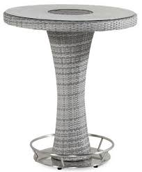 contemporary high bar table wicker round garden montego
