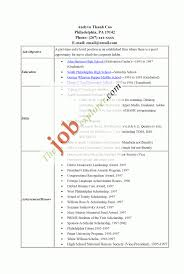 Cover Letter High School Resume Template No Work Experience High