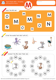 Handwriting worksheet maker make custom handwriting & phonics worksheets type student name, small sentence or paragraph and watch a beautiful dot trace or hollow letter. Letter Recognition Phonics Worksheet M Uppercase Super Simple