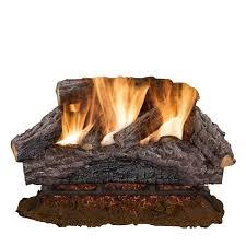 24 in charred river oak vented natural gas log set
