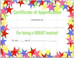 Fresh Teacher Appreciation Certificate Templates Free Showing