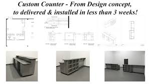 Design for less furniture Small Spaces Custom Counter From Design Concept To Delivered Installed In Less Than Yelp Custom Counter From Design Concept To Delivered Installed In