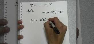 how to convert temperature measured in celsius to fahrenheit