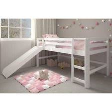 kids bunk bed with slide. Exellent Kids White Junior Loft Bed With Slide Twin Size Wooden Bunk Kids Play Area  Furniture And With I
