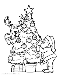 Small Picture Christmas Tree Coloring Pages Santa Coloring Pages Christmas