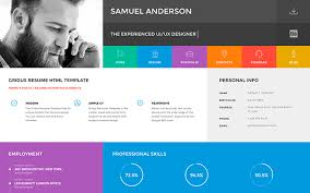 Resume Website New Gridus VCard CV Resume Portfolio WrapBootstrap