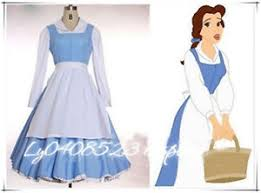 Belle Blue Dress Pattern Classy Halloween Disney Beauty And The Beast Belle Blue Dress Made Cosplay