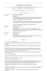 ↫ 40 Junior Web Developer Resume New Net Developer Resume