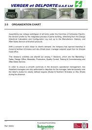 Schneider Organization Chart Verger Et Delporte U A E