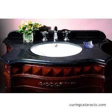 ove decors buckinghamsgl vb 36 inch wide vanity with black marble countertop and ceramic basin dark