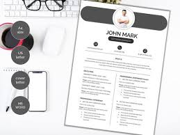 modern clean resume template modern clean resume template cv template cover letter professional and creative resume word resume instant download