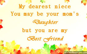 Aunt Quotes From Niece Awesome Birthday Wishes For Niece WishesMessages