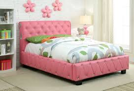 Marilyn Monroe Bedroom Furniture Furniture Of America Herault Pink Tufted Leatherette Bed With