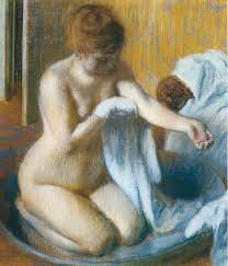 after the bath 1885 1886 edgar degas
