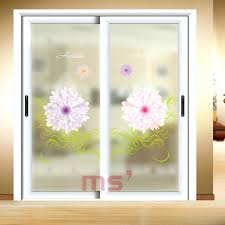 patio door decals decorative self adhesive static cling frosted stained window translucent sliding bathroom landscape