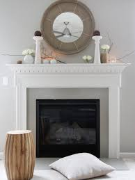 Classic Fireplace Mantel Decor Cement Patio