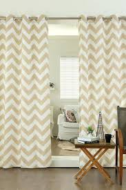 beige chevron curtains image of best home fashion inc velvet chevron printed grommet curtains set of
