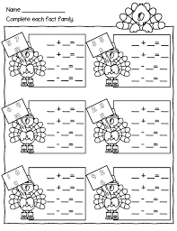 Free Math Coloring Sheets Grade Thanksgiving Multiplication Pages