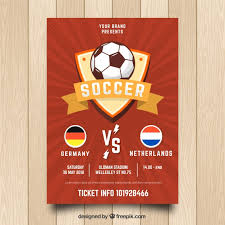 soccer team brochure template red soccer flyer template vector free download